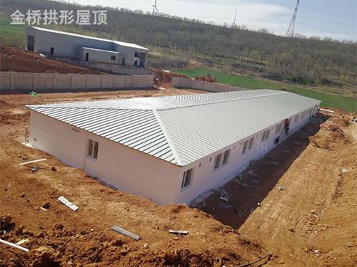 金属波纹拱形钢屋盖生产