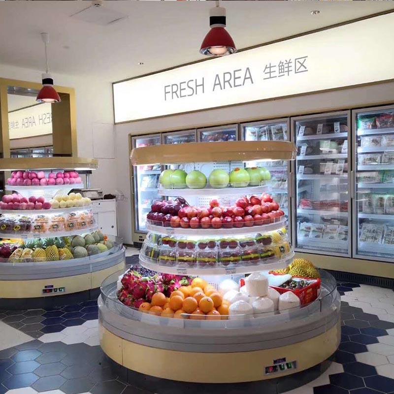超市生鲜冷柜安装