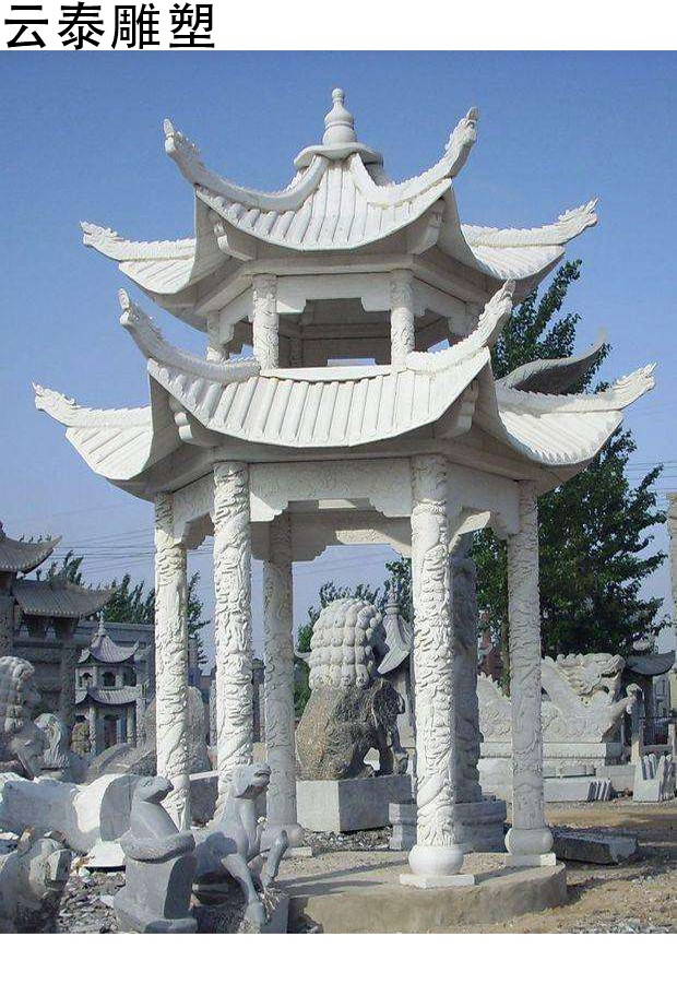 石雕凉亭图片