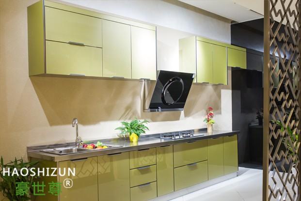 现代简约不锈钢厨柜
