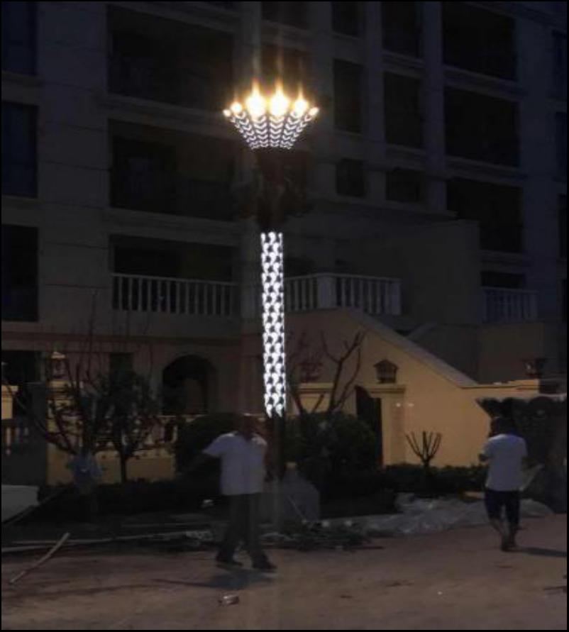 新乐文化广场高杆灯改造