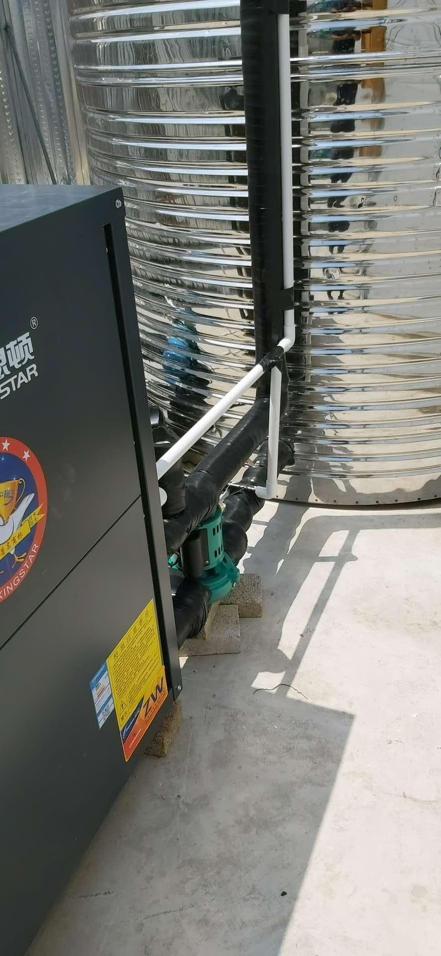 慈溪安龙众创城空气能热水项目