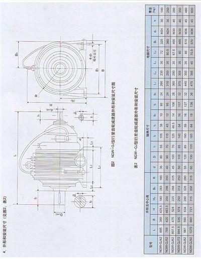 单级(NGW11-NGW121)行星齿轮减速机