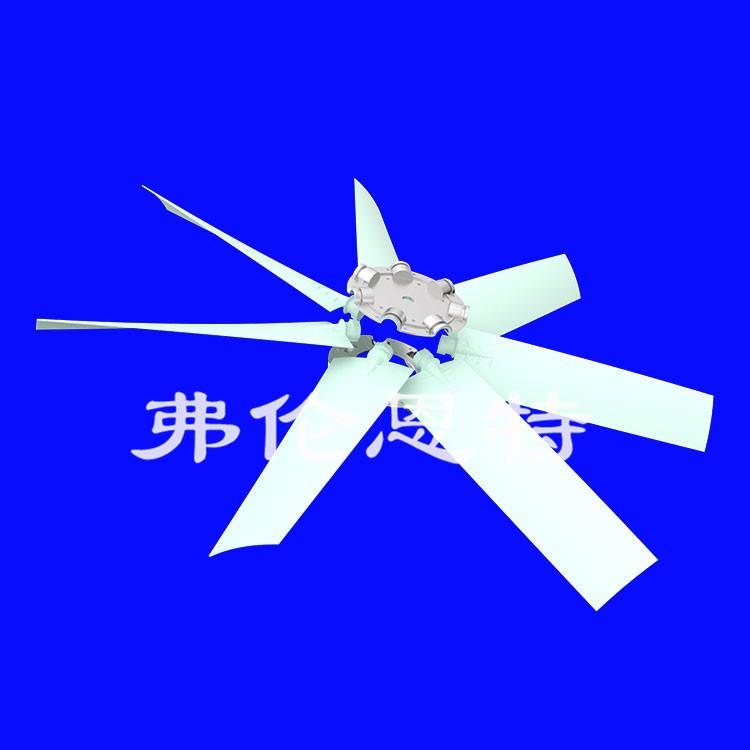 挖掘机散热器叶轮用几片扇叶
