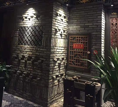 百年老青砖皮室内贴面效果图
