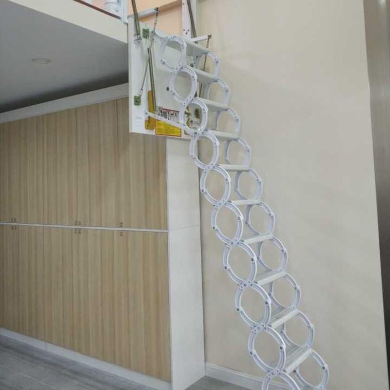 铝合金框伸缩阁楼楼梯