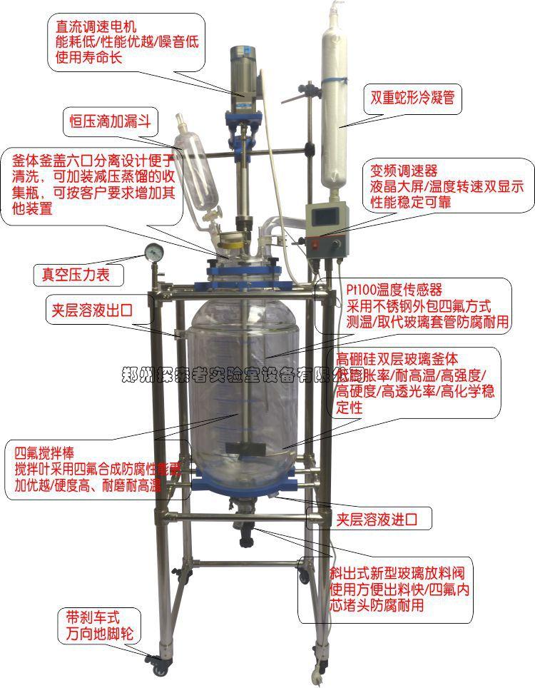 50-100L雙層玻璃反應釜