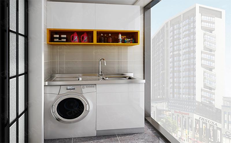 不锈钢洗衣柜-3