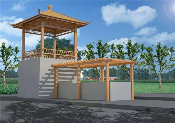 公园小凉亭