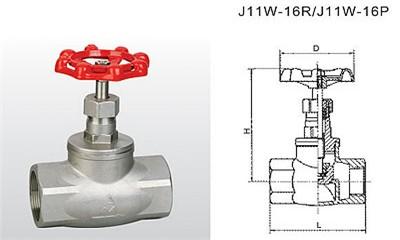 埃美柯截止阀-J11W-16R/J11W-16P 不锈钢截止阀