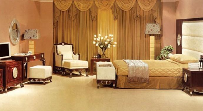 酒店复古风桌椅家具