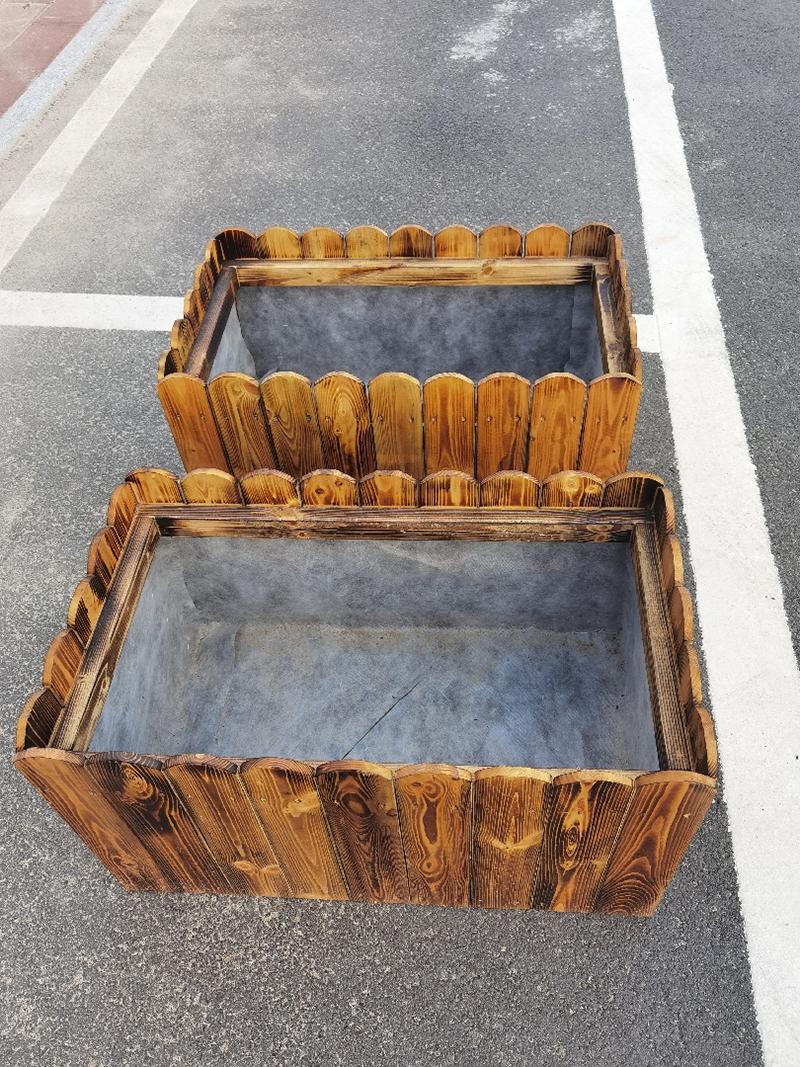 路边景观防腐木花箱
