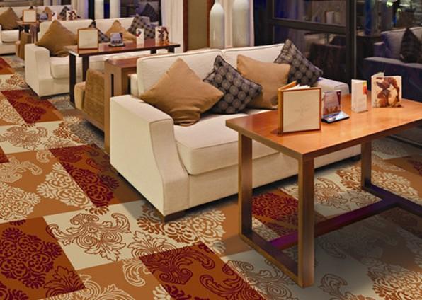 餐厅彩印地毯
