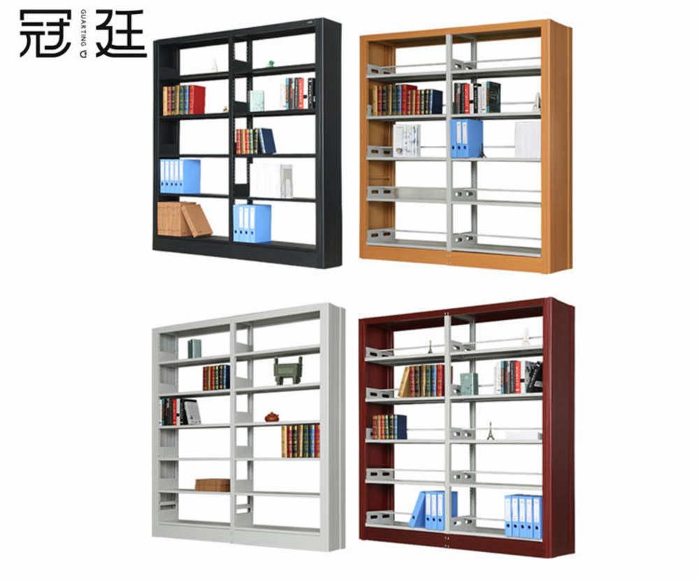 【办公家具】木护板图书架