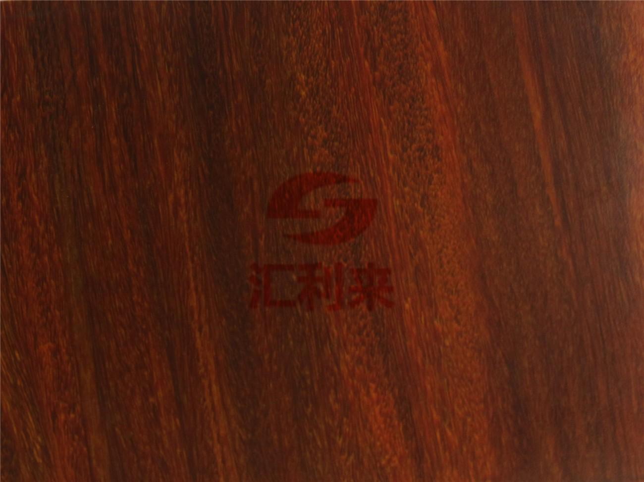 转印红檀木纹彩板