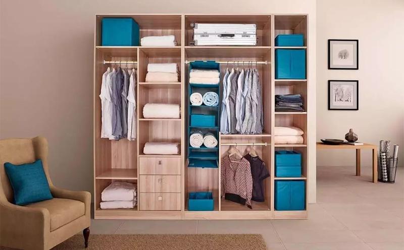 衣柜快速整理收纳技巧