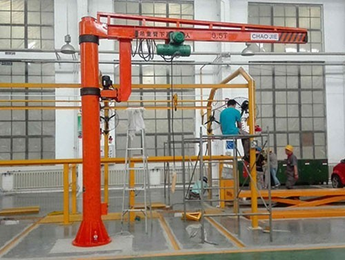 Fixed column jib crane