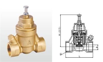 埃美柯减压阀-Y12X-16T 黄铜过滤型减压阀