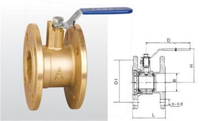 埃美柯球阀-Q41F-16T/Q41F-25T 黄铜法兰球阀