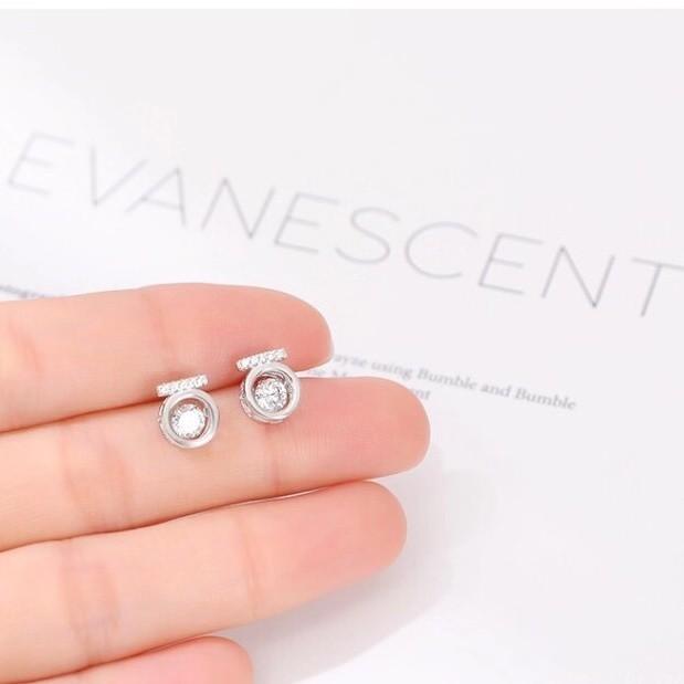 925银镶钻灵动锆石耳钉