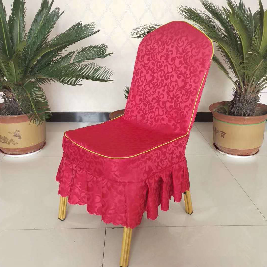 酒店欧式椅子套红色高雅端庄