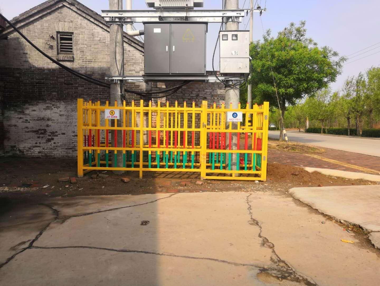 农村变压力围栏施工