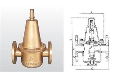 埃美柯减压阀-Y42X-10T 黄铜可调式减压阀