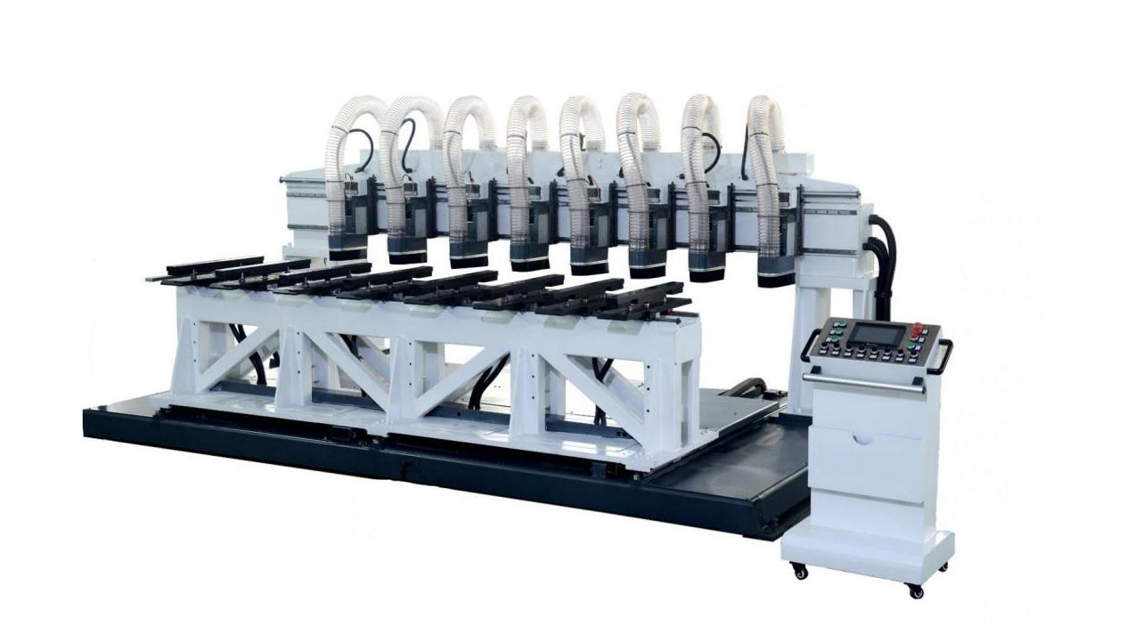 数控八轴铣槽机(工装移动式)ZX-SXC3000