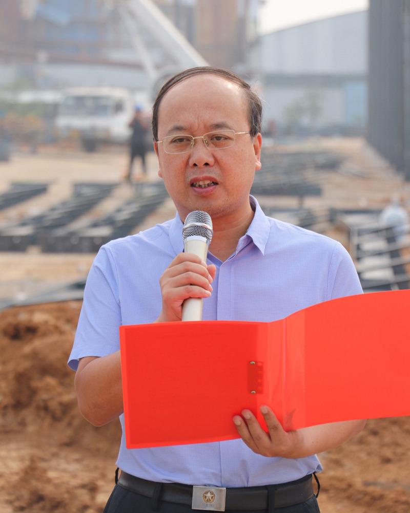 喜大普奔!明星爬架郏县生产基地二期工程开工奠基仪式昨日举行!