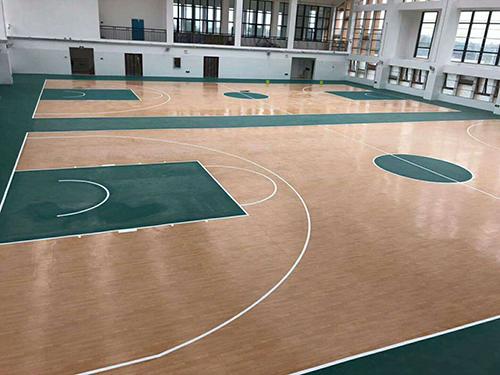 房间内篮球馆地胶铺装优点