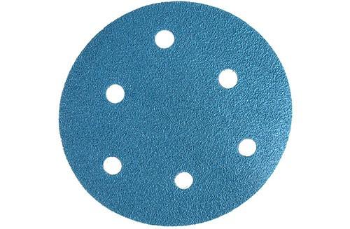 5寸6孔蓝色背绒圆盘-氧化铝-60#