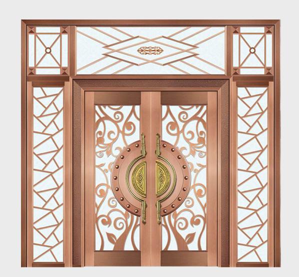 玻璃铜门制造