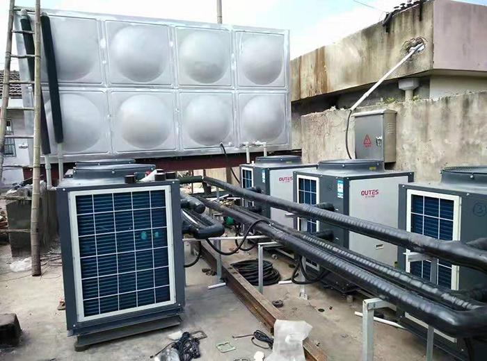 兴化纺织厂浴室空气能热水器安装工程案例