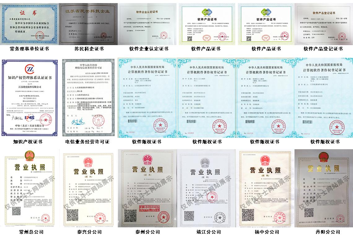 姜堰网站推广公司荣誉资质