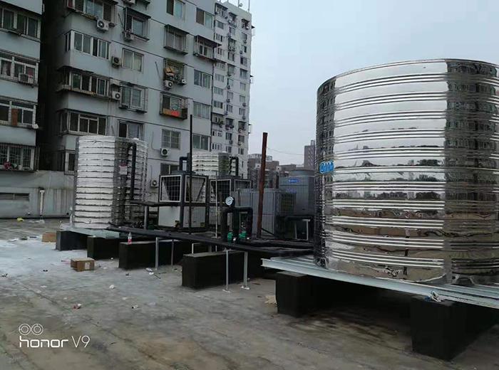 北京六里桥安歆公寓空气能热水器工程