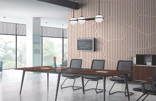 方形办公家具风格