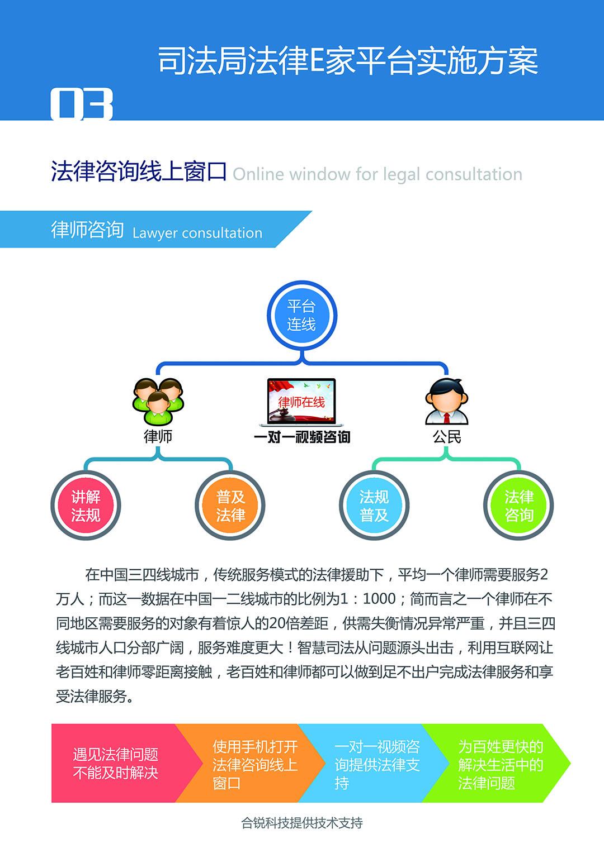智慧司法系统 法律E家平台
