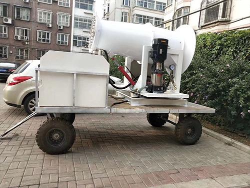 中小型工程项目40米环境保护除尘雾炮机安裝配备