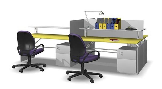 一字型办公桌