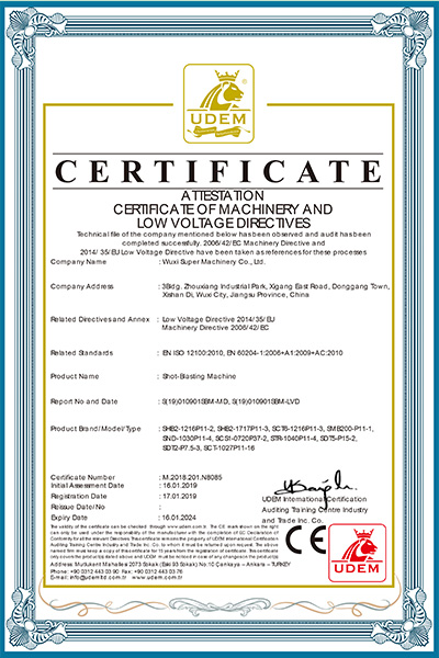 N8085 MD+LVD-抛丸机CE证书