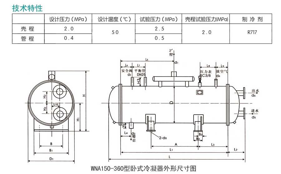 卧式冷凝器