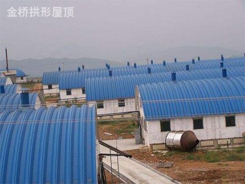 金属波纹拱形钢屋盖价格
