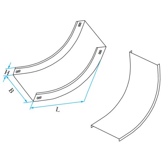 槽式圆弧型垂直下弯通