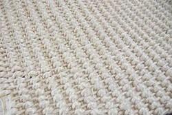 Bleached thread ornamental fabric