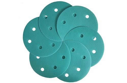 5寸6孔绿色背绒圆盘-氧化铝-400#