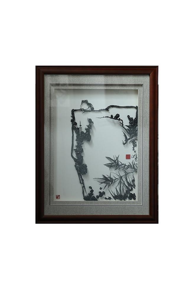 竹石蛙鸣图