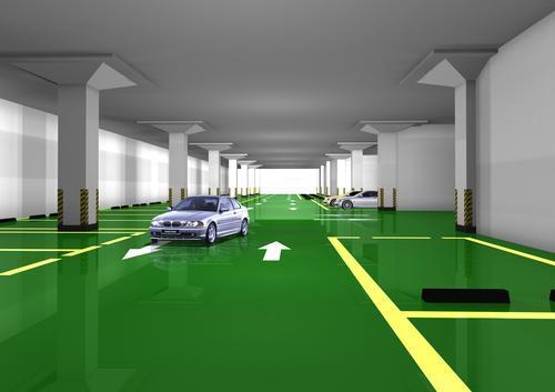 停车场环氧地坪的施工方式