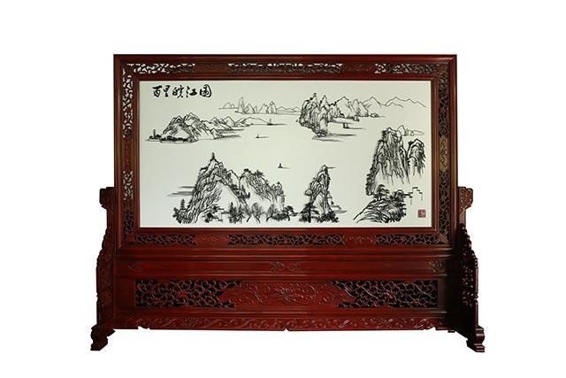 百里皖江图
