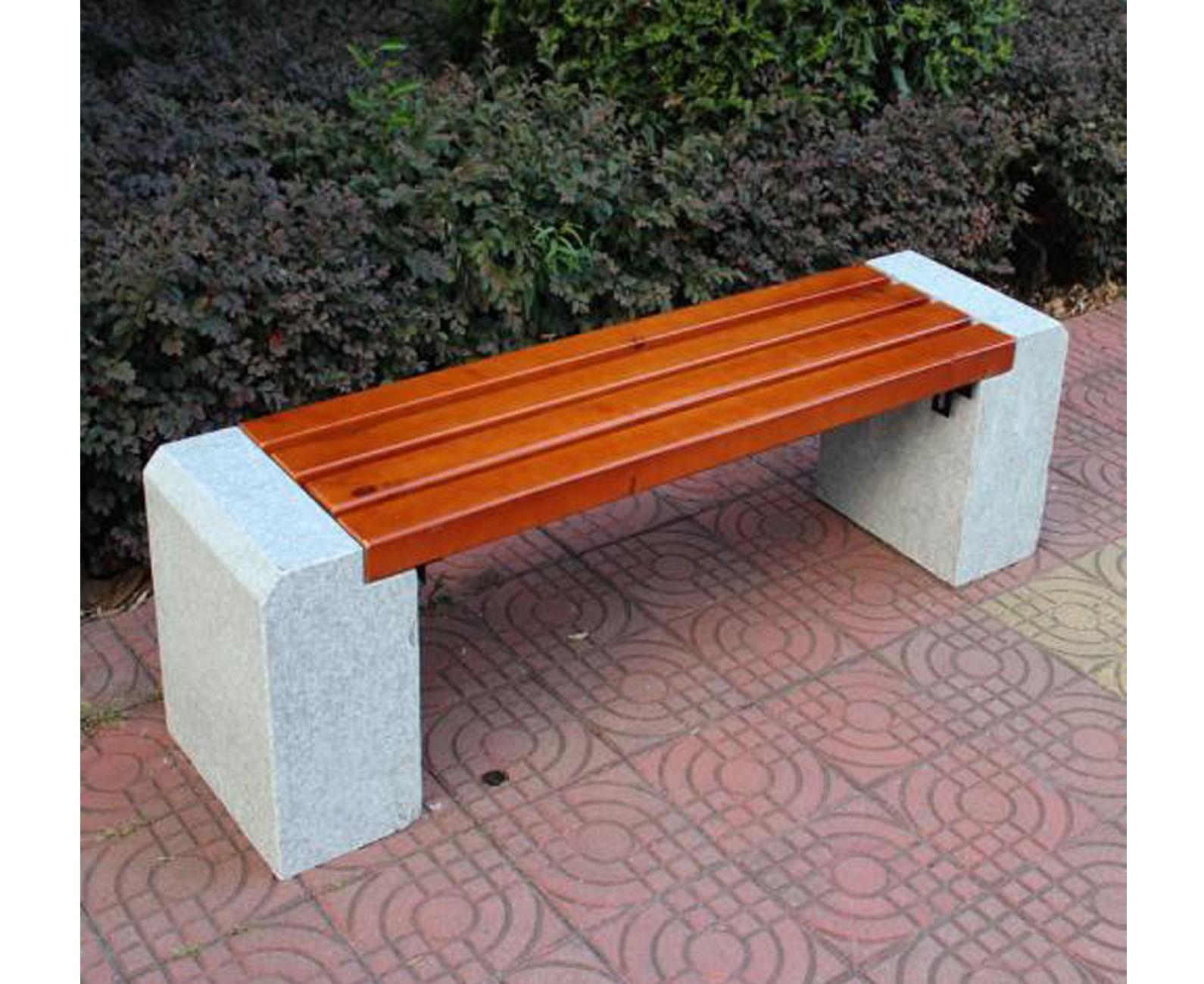 户外圆形石材桌椅