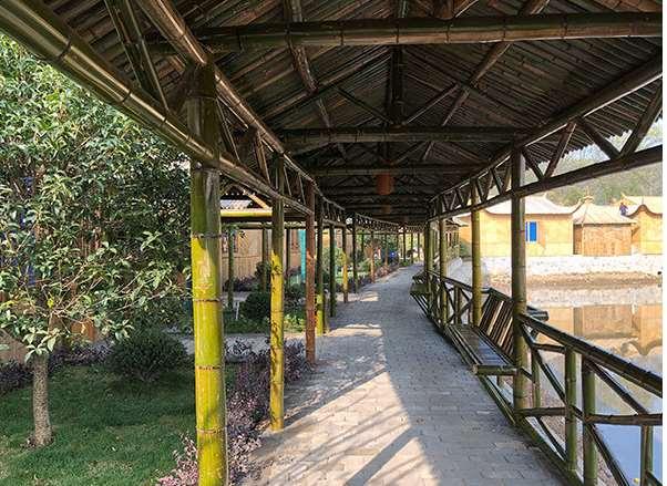 竹长廊让夏日更加清新